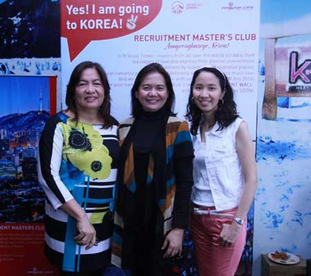 Philam Life Unit Managers Grace Cruz (Mendoza Associates), Yolanda Santos (Mendoza Associates), and Jeanette Fabico (Monteverde Associates)