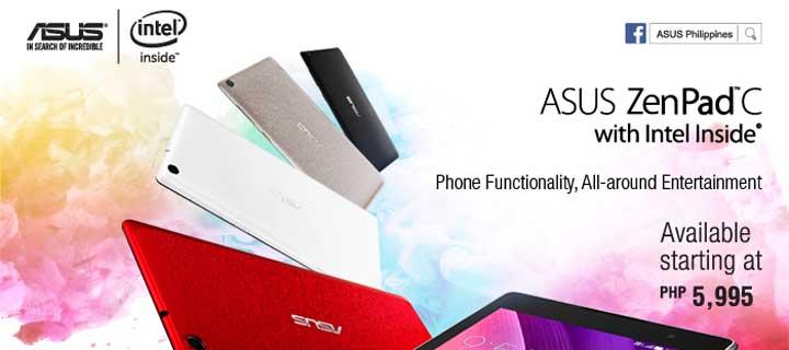 Enjoy maximum luxury on your terms with the ASUS ZenPad C + ZenPower bundle