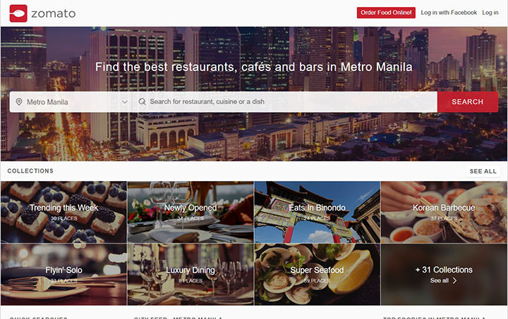 Manila's Favorite Food Finder Now Brings the Food to You: Zomato launches Online Ordering