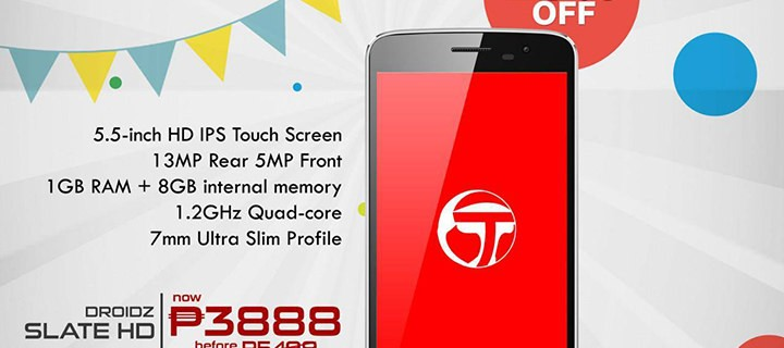 P5499 Torque Droidz Slate HD now only P3888 during April-licious Promo