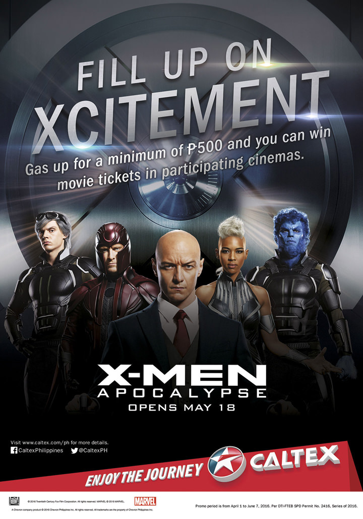 Caltex, X-Men Apocalypse