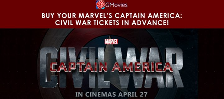 Book Your Marvel's Captain America: Civil War Tickets  In Advance With GMovies!