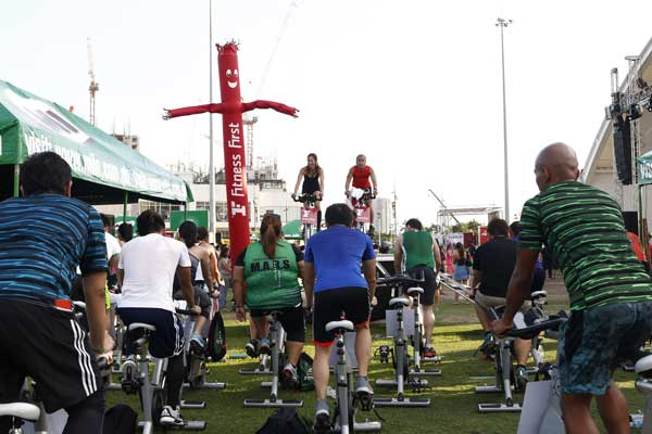 The whole-day fitness convention had non-stop practical sessions led by various fitness organizations.
