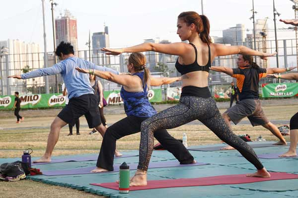 Solenn Heussaff joined the yoga session by Beyond Yoga