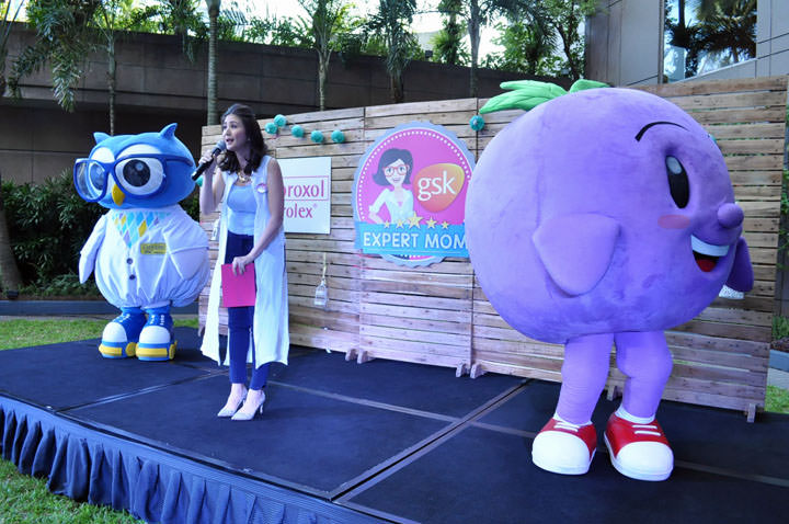 Mascots Allergenius and Barry the Berry with Expert Mom Rica Peralejo Bonifacio