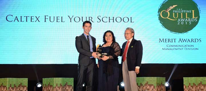 Caltex Fuel Your School bags 3rd award for the year, adds IABC's Quill to rare grand slam feat