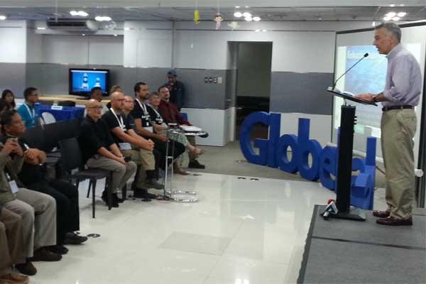 US Ambassador to the Philippines Philip Goldberg addresses the participants to Fishackathon 2016 Manila hosted by Globe Telecom