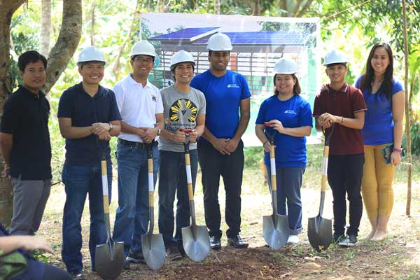 L-R Engr.Sarte,Engr.Solis,Engr.Elmer, Efren,Subra of QBE,Ms.Jamie of QBE,Kesz Valdez, Angeline Neri of DTC as they pose after the ceremony.