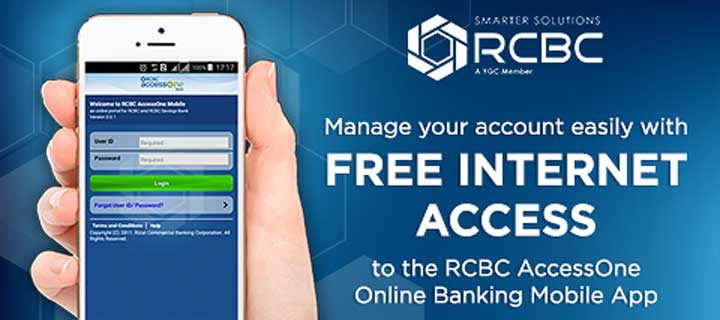 RCBC AccessOne Online Banking is now free of data charge