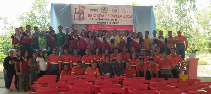 Holcim PH employees volunteer anew for Brigada Eskwela