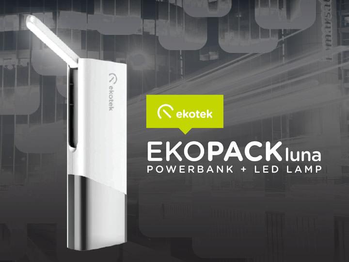 Ekopack Luna, Ekotek, power bank, LED lamp