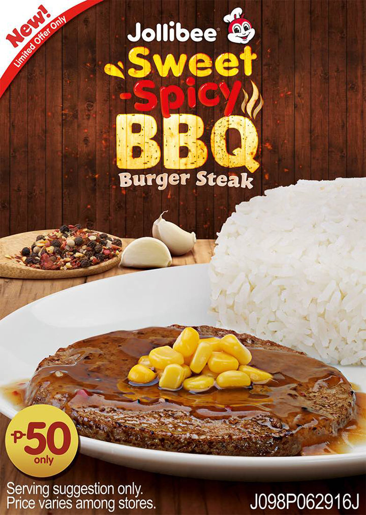 Sweet & Spicy BBQ Burger Steak, Jollibee