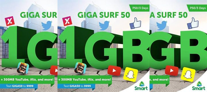 Smart unveils GigaSurf50, the country's first 1GB data offer at P50