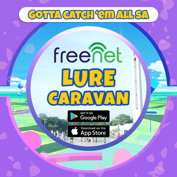 Enjoy Pokemon GO all-day lures in the metro with freenet Lure Caravan