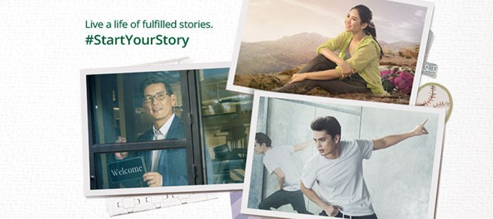 "Richard Yap, Sarah Geronimo and James Reid launch the next chapter of Manulife's ""Start Your Story"" campaign"
