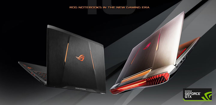 ASUS Republic Of Gamers (ROG) First To Announce Gaming Laptops with NVIDIA GeForce GTX 10-Series Graphics Cards in the Philippines