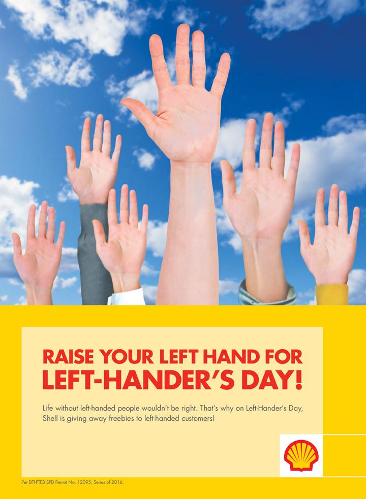 Shell, International Left Handers Day
