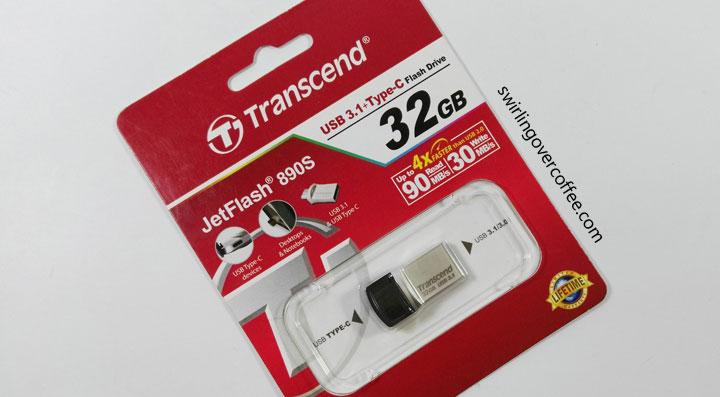 Transcend JetFlash 890S, USB OTG Type C
