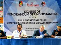 Globe, PNP sign MOU to operate Text Bato hotline for crime prevention
