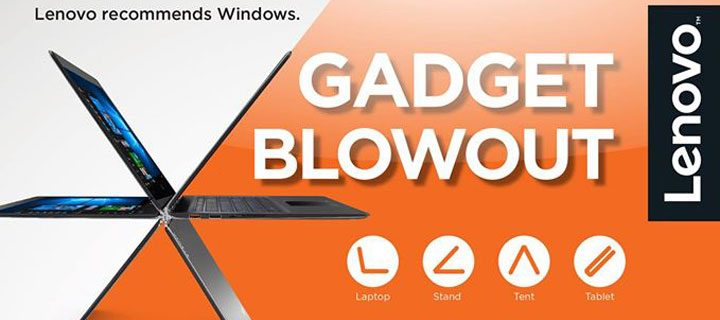 Lenovo offers consumers exciting freebies with the Lenovo Gadget Blowout