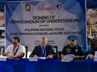 PLDT, Smart provide text service & connectivity for the PNP