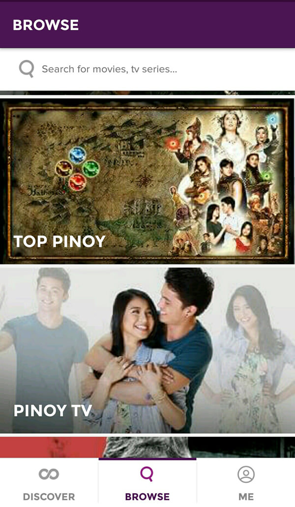 HOOQ New UI, Top Pinoy, Pinoy TV