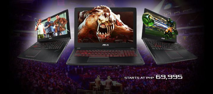 ASUS FX502 gaming laptop now available, starts at P69,995