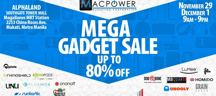MACPOWER Mega Gadget Sale 2016 – Up to 80% Off!