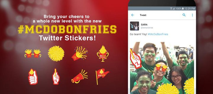 McDonald's Philippines Partners With Twitter As The First in Southeast Asia To Launch Promoted #Stickers