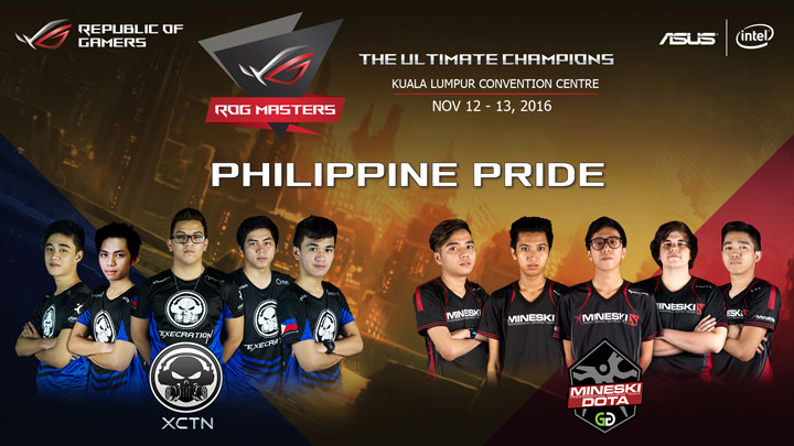 Execration and Mineski DOTA Team To Represent The Philippines in the ROG Masters 2016 International Stage