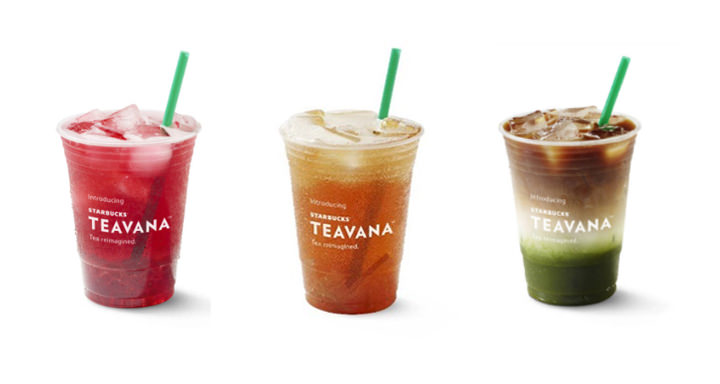 Enjoy a modern iced tea experience with Starbucks Teavana Handcrafted Beverages