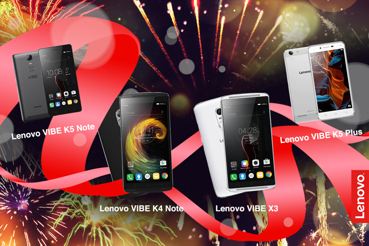 Create positive vibes in 2017 with Lenovo Vibe Series