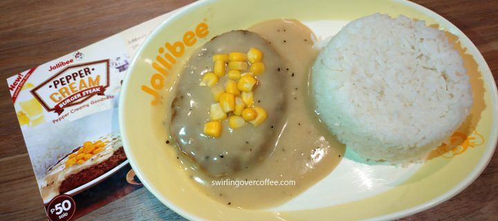 Here's your new comfort food favorite at Jollibee – the new Pepper Cream Burger Steak