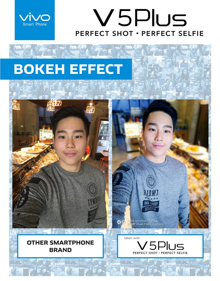 Vivo V5 Plus, Bokeh Effect