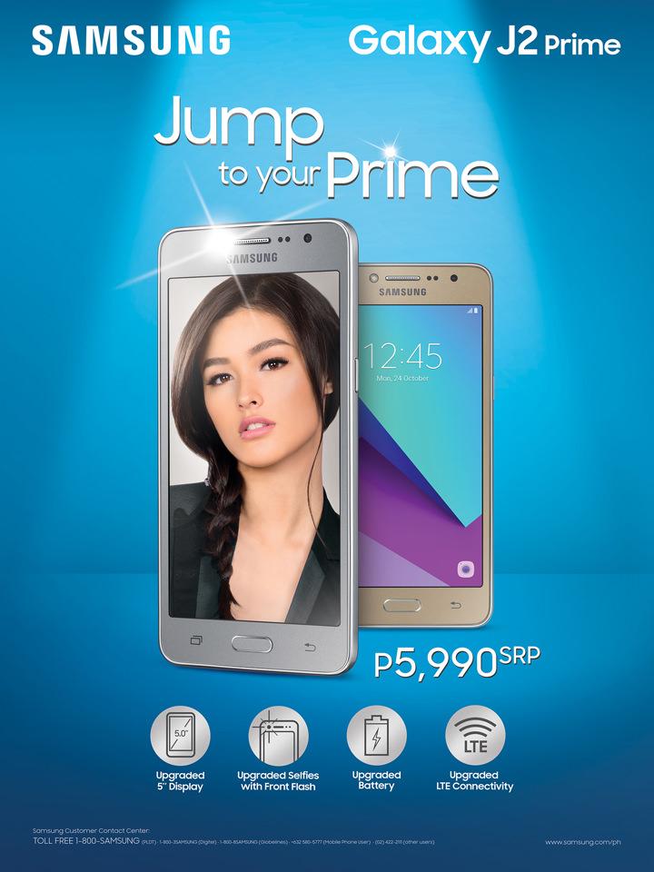 Samsung Galaxy J2 Prime with Liza Soberano