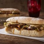 Cheese Steak on Ciabatta Bread, Starbucks
