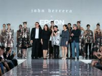 John Herrera and Epson team up for Eagle-inspired haute couture collection at London Fashion Week