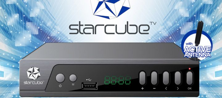 Watch free TV, record your favorite episodes, and enjoy your downloads  with the Starcube Digital TV Box