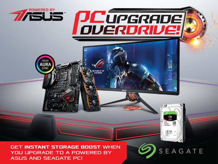 ASUS Seagate PC Upgrade Promo