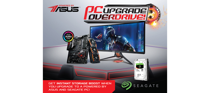 ASUS and Seagate Announces PC Upgrade Overdrive Promo