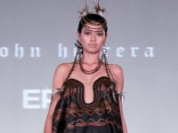 John Herrera wins Britain's Top Designer Competition for a collection digitally-printed by Epson