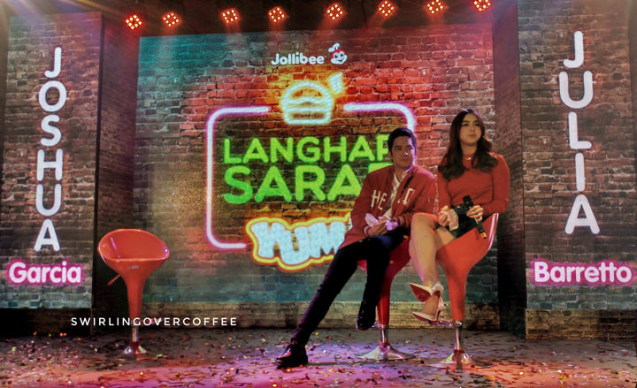 Jollibee Langhap-Sarap Endorsers Julia Barretto and Joshua Garcia.