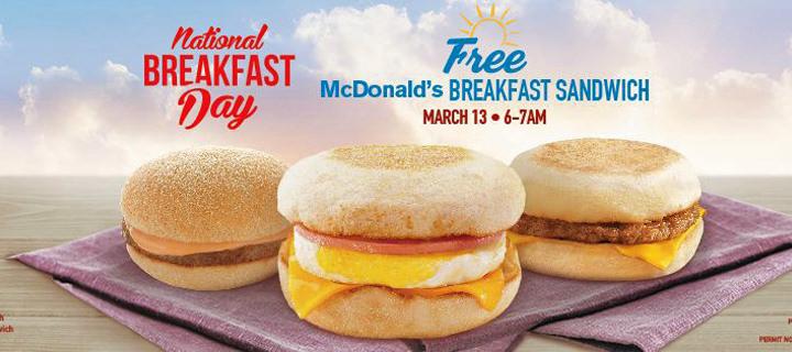 McDonald's 5th National Breakfast Day treats customers to a free McDo Breakfast Sandwich