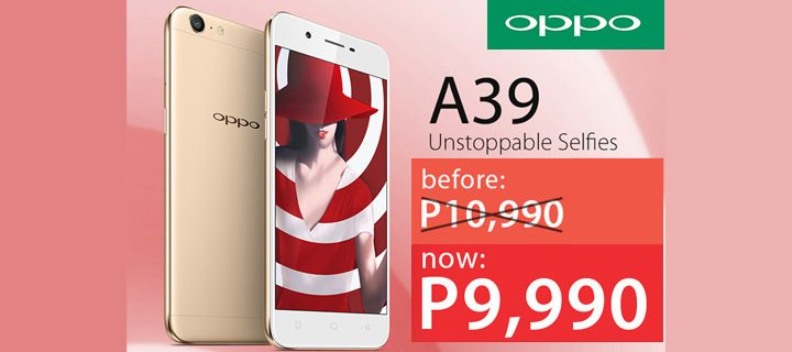 Your Summer Vacay Phone, the OPPO A39, Gets a P1,000 Price Cut