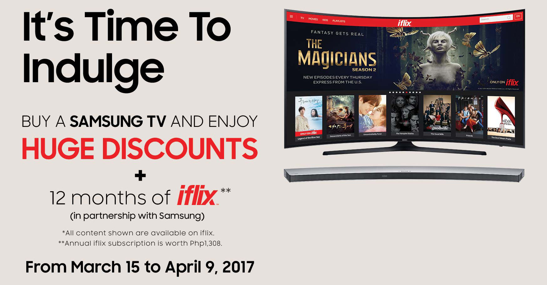 Samsung It's Time to Indulge Promo