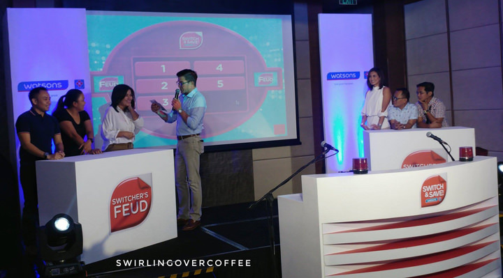 The Switcher's Feud game at the Watsons Switch and Save 2017 event.