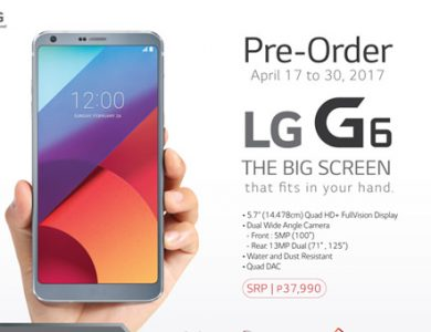 Pre-order the P37,990 LG G6 to get P8,900 worth of exclusive freebies
