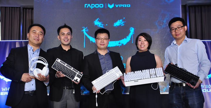 Oliver Shi Rapoo Overseas Managing Director, Lem Estiva, Rapoo PH Retail Sales Manager,Johnson Zhang Rapoo Regional Sales Director, Aileen Chua Tecson Rapoo Phil Country Manager and Kyle Guo Rapoo R & D Director