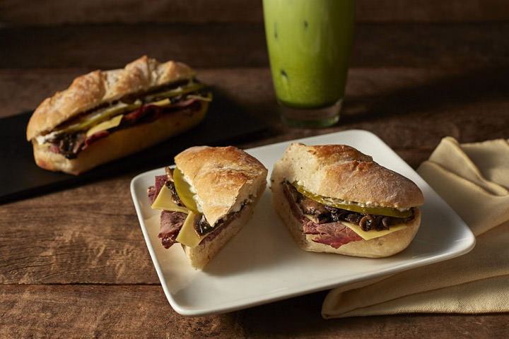 Starbuck, Roast Beef Deli on Ciabatta Bread