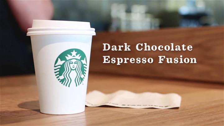 Starbucks dark chocolate espresso fusion